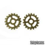 Металлическая шестеренка, цвет античная бронза, диаметр 15 мм, 1 шт. - ScrapUA.com