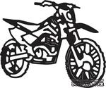 Ножи от Cheery Lynn Designs -Dirt Bike - ScrapUA.com