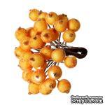 Ягодки круглые в осыпке, цвет оранжевый, 14 см х 12 мм, по 2 шт. на стебельке, всего 40шт. - ScrapUA.com