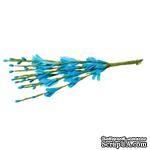 Веточки с цветочками, цвет голубой, 20 см, 10шт. - ScrapUA.com