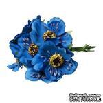 Мак, цвет синий, 11см, диаметр цветочка 4 см, 1шт. - ScrapUA.com