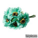 Мак, цвет мятный, 11см, диаметр цветочка 4 см, 1шт. - ScrapUA.com