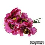 Мак, цвет фуксия, 11см, диаметр цветочка 4 см, 1шт. - ScrapUA.com