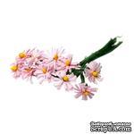 Хризантемы розового цвета, цветочек 12-13 мм, стебелек 10 см, 10шт. - ScrapUA.com