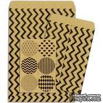 Конверты-пакетики из крафт-бумаги BoBunny - Kraft Gift Bags Chevron - ScrapUA.com