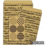Конверты-пакетики из крафт-бумаги BoBunny - Kraft Gift Bags Music Notes - ScrapUA.com
