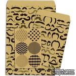 Конверты-пакетики из крафт-бумаги BoBunny - Kraft Gift Bags Mustache - ScrapUA.com