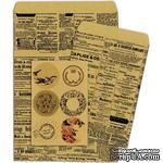 Конверты-пакетики из крафт-бумаги BoBunny - Kraft Gift Bags Newsprint - ScrapUA.com