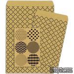 Конверты-пакетики из крафт-бумаги BoBunny - Kraft Gift Bags Quatrefoil - ScrapUA.com