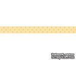 Лента в горошек BoBunny - Mellow Yellow Double Dot, ширина 1 см, длина 90 см - ScrapUA.com