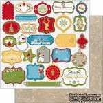 Лист двусторонней бумаги BoBunny - Dear Santa - Gift Tag, 30х30 см - ScrapUA.com