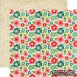 Лист двусторонней бумаги от Echo Park - Floral, 30x30 см - ScrapUA.com