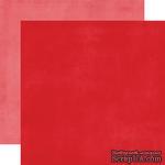 Лист двусторонней бумаги от Echo Park - Red/Pink Distressed Solid Paper, 30x30 см - ScrapUA.com