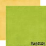 Лист двусторонней бумаги от Echo Park - Yellow/Green Distressed Solid Paper, 30x30 см - ScrapUA.com