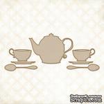 Чипборд Blue Fern Studios - Tea with Ginger - ScrapUA.com