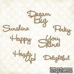 Чипборд Blue Fern Studios - The Optimist Word Set - ScrapUA.com