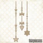 Чипборд Blue Fern Studios - Winter Page Dangles - ScrapUA.com
