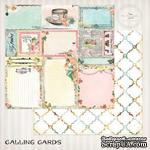 Лист скрапбумаги Blue Fern Studios - Blue Fern Montage Calling Cards, двусторонняя, 30х30 см - ScrapUA.com