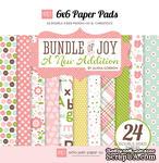 Набор двусторонней бумаги для скрапбукинга от Echo park - Bundle of Joy - A New Addition Girl, 24 листа, 15х15 см - ScrapUA.com