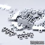 """Металлическое украшение """"Multiple Hole Bars"""", размер 18x12 мм, 1 шт. - ScrapUA.com"""