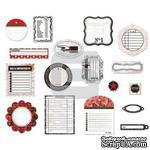 Набор высечек от компании BasicGrey - Basics White - Die-cut Shapes - Pieces - ScrapUA.com