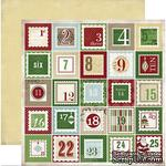 Лист скрапбумаги Carta Bella Christmas Countdown, 30х30 см, двусторонняя - ScrapUA.com