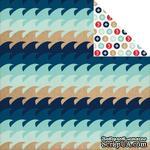 Лист скрапбумаги Carta Bella - Ahoy There - Waves, двусторонняя, 30х30 см - ScrapUA.com