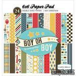 Набор двусторонней бумаги Carta Bella - Boy Oh Boy - Paper Pad, 15х15 см - ScrapUA.com