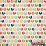 Лист скрапбумаги от Echo Park - Large Numbers, 30х30 см - ScrapUA.com