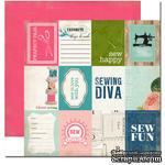 Лист двусторонней скрапбумаги Carta Bella - Sew Fun, Sew Lovely, 30х30 см - ScrapUA.com