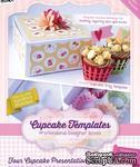 Шаблон-трафарет от  Crafters Companion -Cupcake Templates Collection - Four Cupcake Presentation Box - ScrapUA.com