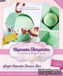 Шаблон-трафарет от  Crafters Companion -Cupcake Templates Collection - Single Cupcake Favour Box - ScrapUA.com