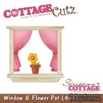 Лезвие CottageCutz - Window & Flower Pot, 10х10 см - ScrapUA.com