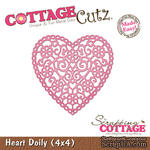Лезвие CottageCutz - Heart Doily, 10х10 см - ScrapUA.com