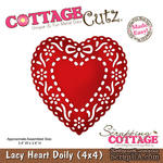 Лезвие CottageCutz - Lacy Heart Doily, 10х10 см - ScrapUA.com