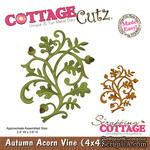 Лезвие CottageCutz Autumn Acorn Vine, 10х10 см - ScrapUA.com