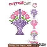 Лезвие CottageCutz - Filigree Tulip Basket, 10х15 см - ScrapUA.com