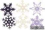 Снежинки из фетра Creative Impressions -  Heritage Winter, 36 штук - ScrapUA.com