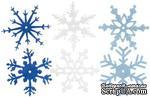 Снежинки из фетра Creative Impressions -  Winter, 24 штуки - ScrapUA.com
