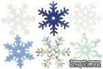 Снежинки из пластика Creative Impressions -  Medium Shimmer Snowflakes, 75 штук - ScrapUA.com