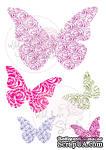 Акриловые штампы от Wild Rose Studio - Wedding Butterflies, 5 шт - ScrapUA.com