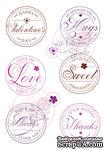 Акриловые штампы от Wild Rose Studio - Love Circles, 8 шт - ScrapUA.com
