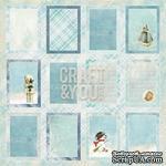 Лист скрапбумаги c картинками от Craft and You Design - Frozen Paper,  30х30 см, CP-FP07 - ScrapUA.com