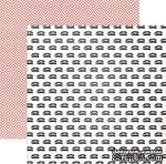 Акция! Двусторонний лист бумаги от My Mind's Eye - Cut & Paste Collection by Jen Allyson - Flair Snapshots - Ring, 30,5x30,5см - ScrapUA.com
