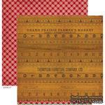 Лист скрапбумаги Crate Paper - FARMHOUSE FARMERS MARKET, 30х30 см, двусторонняя - ScrapUA.com