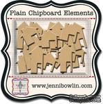 Набор фигурок из чипборда Jenni Bowlin Mini Chipboard Pieces - Houses, 24 штуки - ScrapUA.com
