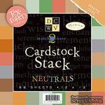 Набор кардстока DCWV - MatchMaker Neutrals Textured Cardstock Stack, 30х30 см, 19 листов - ScrapUA.com