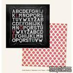 Лист скрапбумаги My Mind's Eye Alphabet Love, 30х30 см, двусторонняя - ScrapUA.com