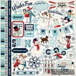 Набор наклеек Carta Bella - Snow Fun - Sticker  размер 30х30 см - ScrapUA.com