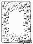 Папки для тиснения Crafts Too Embossing Folder - Tulip Frame - ScrapUA.com